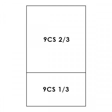 1 CESTO 2/3 + 1 CESTO 1/3 LINEA 900