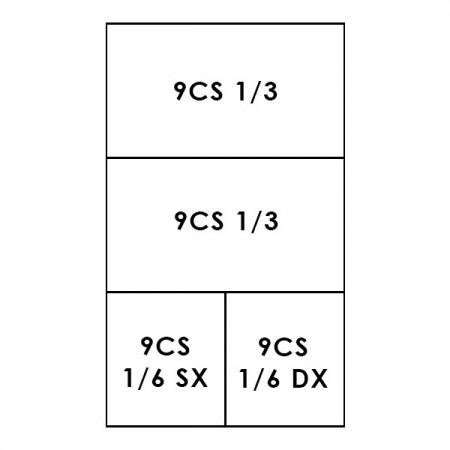 2 CESTI 1/3 + 2 CESTI 1/6 LINEA 900