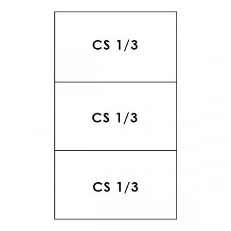 3 CESTI 1/3 LINEA 700