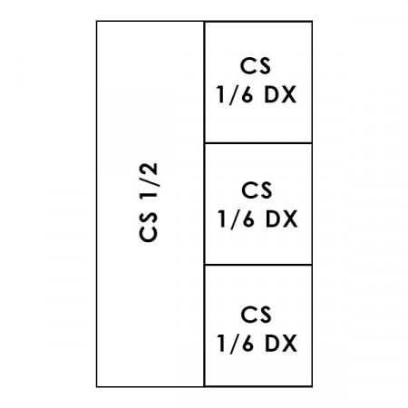 1 CESTO 1/2 + 3 CESTI 1/6 LINEA 700