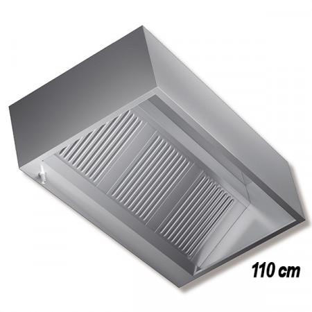 CAPPA INOX A PARETE P.110 CON MOTORE V220