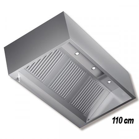 CAPPA INOX A PARETE P.110 CON MOTORE V220 E FARETTI