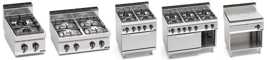 Cucine a gas profondità 70, cucine professionali a gas con profondità 70