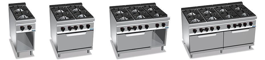 Cucine Gas Profondità 90, Cucine Gas Professionali profondità 90