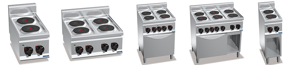 Cucine Elettriche Profondità 60, Cucine Elettriche Professionali