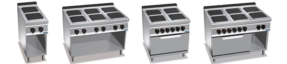 Cucine Elettriche Profondità 90, Cucine elettriche professionali