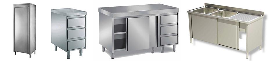 Arredamento in acciao INOX con piano da 6cm | Arrigoni Grandi Cucine