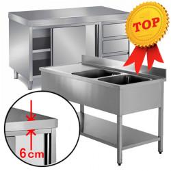 Linea Top - Arredamento Inox AISI 304 Piano 6 Cm
