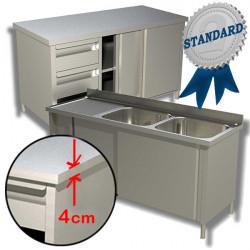 Linea Standard - Arredamento Inox AISI304/AISI430 Piano 4 Cm