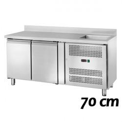 Tavoli Refrigerati Profondità 70 cm con Vasca (GN1/1)
