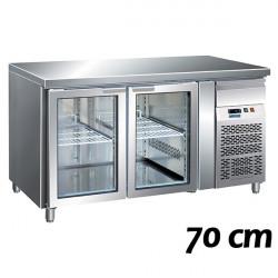 Tavoli Refrigerati Profondità 70 cm Anta Vetro (GN1/1)